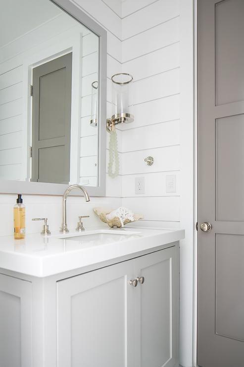 Shiplap bathroom walls