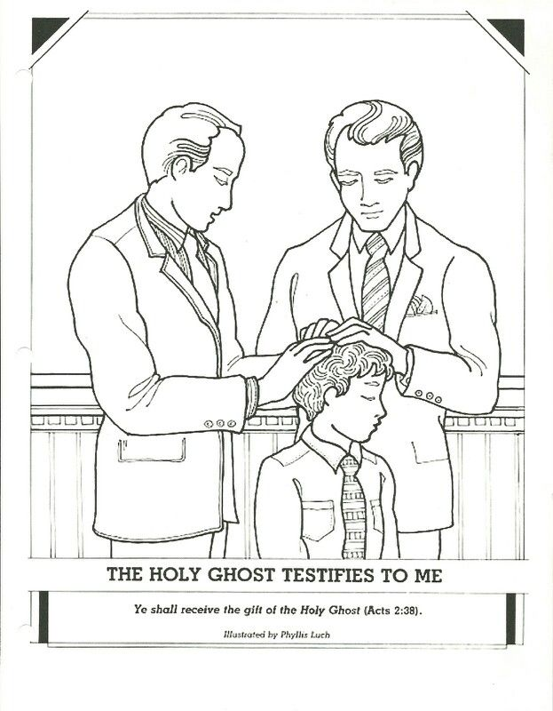 Confirmation and gift if the holy ghost coloring page