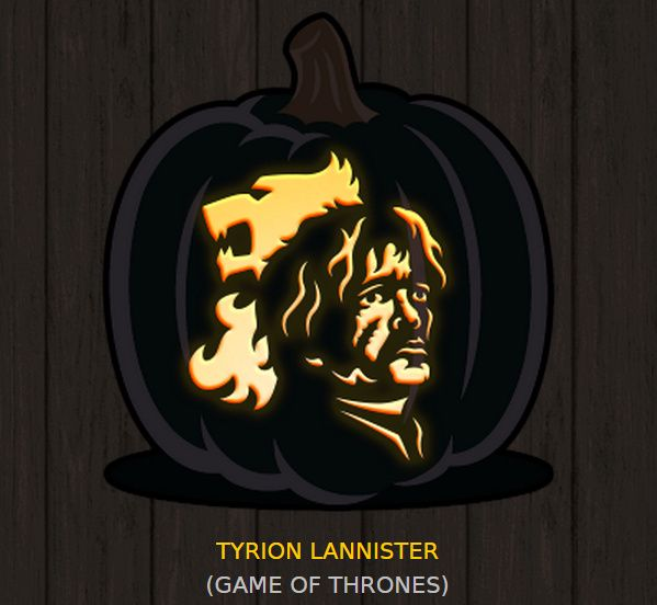Free halloween pumpkin carving templates game of thrones