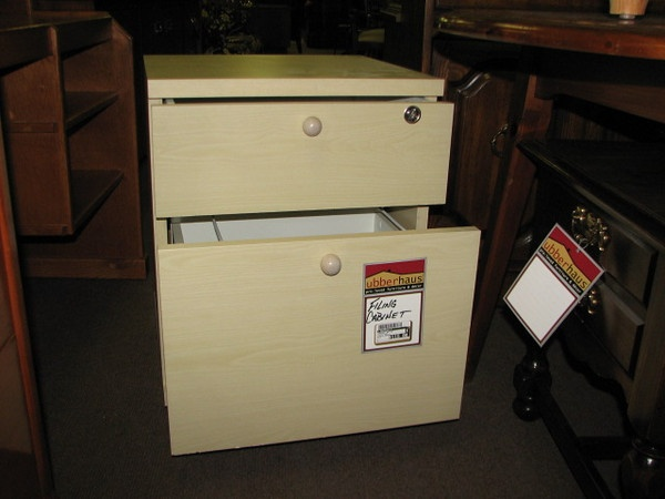 Arhaus Brand pickled-white single drawer filing cabinet on wheels $115.  Available in-