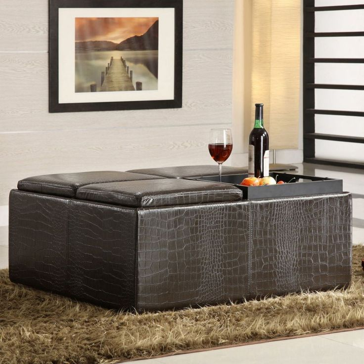 Large Black Ottoman In Square Shape For Contemporary Style - Best 25+ Large Ottoman Ideas On Pinterest Large Ottoman Tray