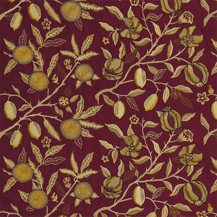 The Original Morris & Co - Arts and crafts, fabrics and wallpaper designs by William Morris & Company | Products | British/UK Fabrics and Wallpapers | Fruit Embroidery (DMOEFR301) | Embroideries