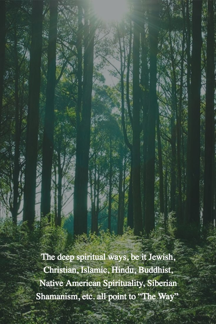 "The deep spiritual ways, be it Jewish, Christian, Islamic, Hindu, Buddhist, Native American Spirituality, Siberian Shamanism, etc. all point to ""The Way"""