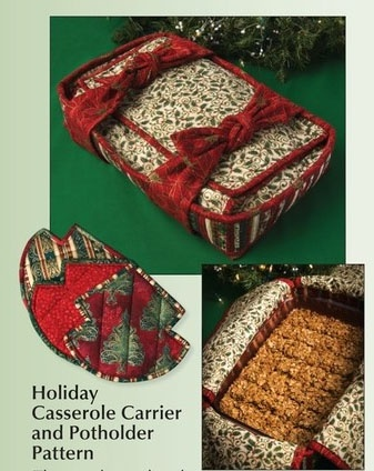 Be prepared for your #holiday dinners with this Casserole Carrier from the Keepsake Quilting #onlinecatalog! #Christmas #quilting #crafts