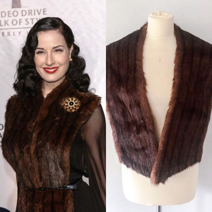 We are massive fans of Dita here at the London vintage co, naturally. Emulate her red carpet look with our Vintage Brown Striped Marmot Stole