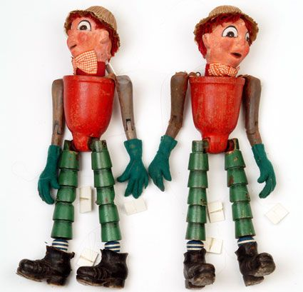 Bill and Ben the flowerpot men The pioneers of children's television in Britain were Frida Lingstrom and Maria Bird at the BBC who developed the 'Watch with Mother' slot and invented the characters Andy Pandy, Bill and Ben and the Woodentops amongst others.