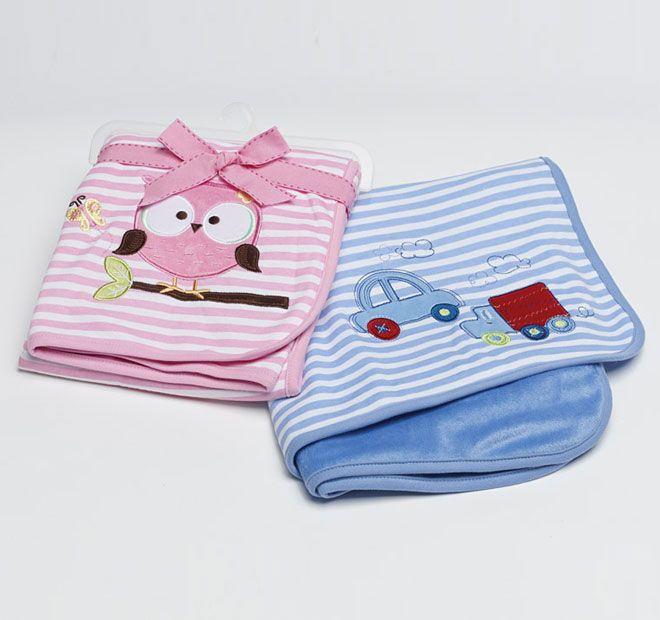 Jiggle and Giggle Truck Jersey 75x85cm Blanket