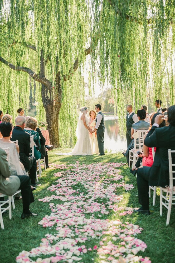 Al Fresco Calistoga Wedding With Layers Of Pink Flower Petal