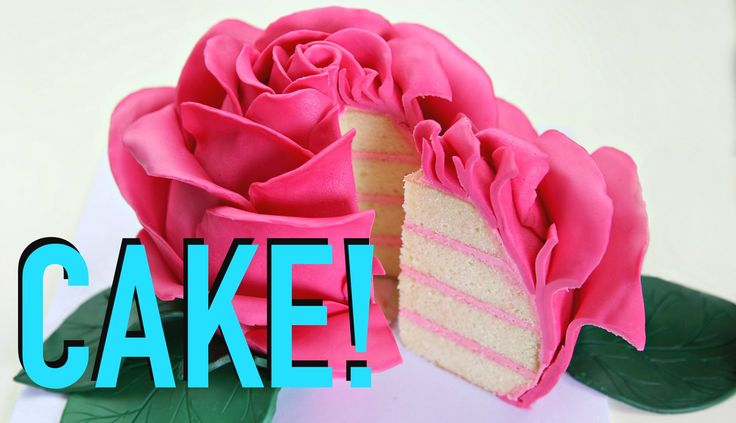 GIANT Rose FLOWER Cake!