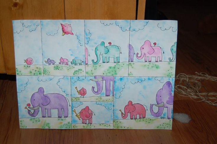 what they didn't teach you in school is how baby elephants are born, watercolor, aquarel, comic