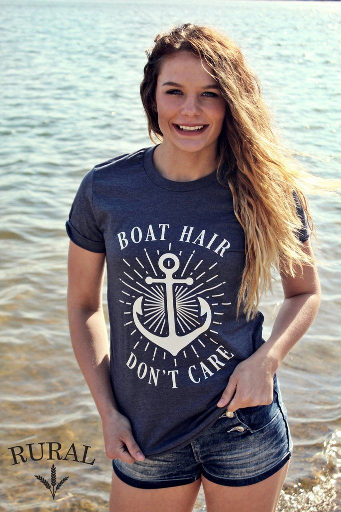 Head out on the boat with our super soft cotton unisex tee in Heathered Navy.