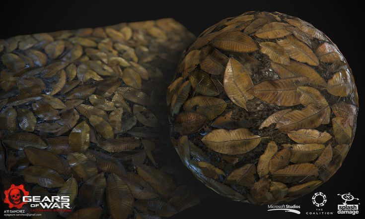 Some blendeable leaves floor for conservatory level I did for Gears of War Ultimate Edition