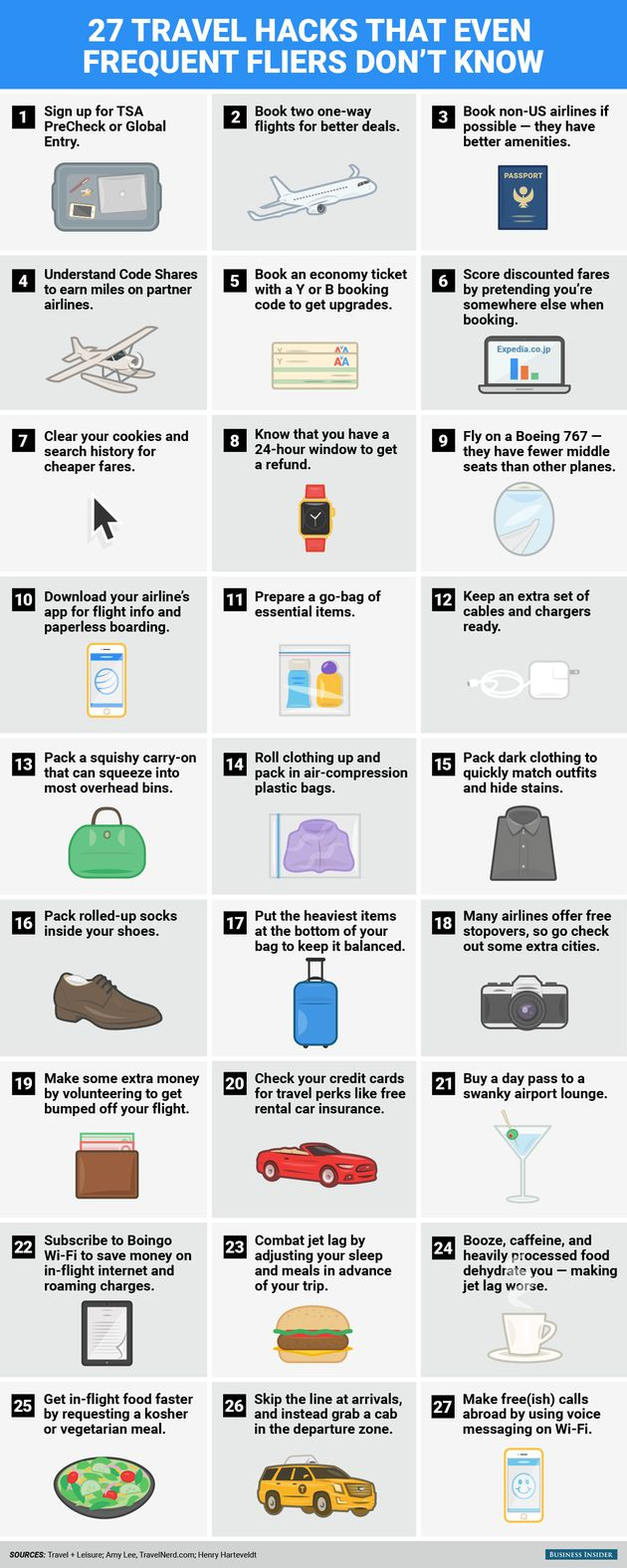 27 game-changing travel hacks every frequent flier should know!