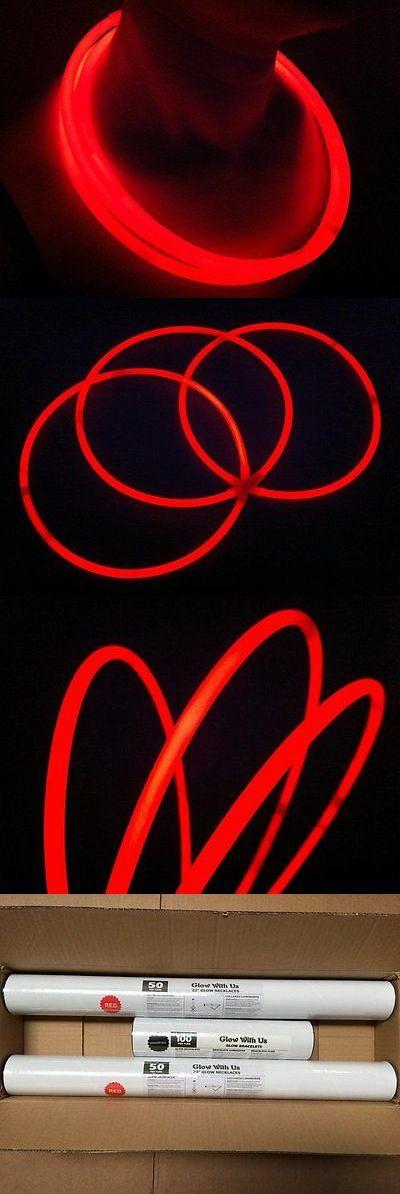 """Glow Sticks 51019: Glow Sticks Bulk Wholesale Necklaces, 100 22"""" Red Glow Stick Necklaces +100 Free -> BUY IT NOW ONLY: $54.81 on eBay!"""