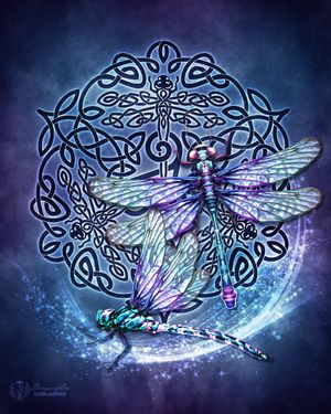 Celtic Dragonfly  by Brigid Ashwood http://www.brigidashwood.com/celtic-wisdom/