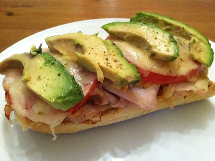 Avocado Smoked Chicken  open sandwiches
