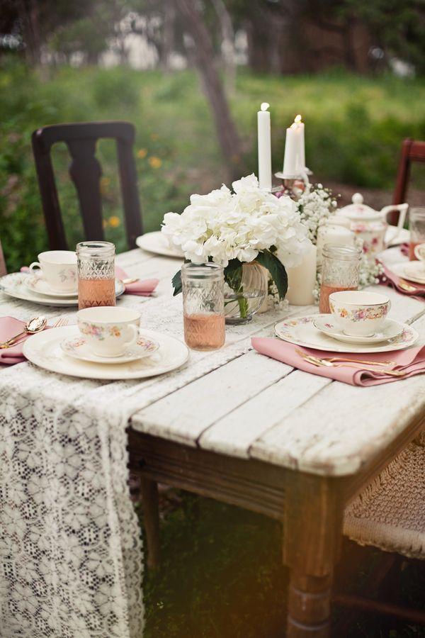 Whimsical Vintage Style Wedding Inspiration Shoot - Rustic Wedding Chic