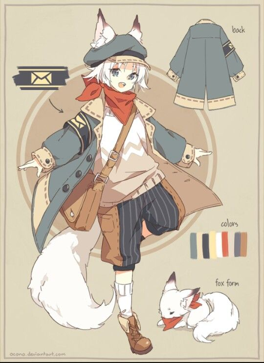 cute little anime boy kid child character design