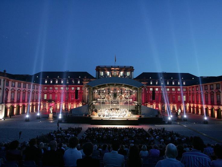 Mannheim Castle during the castle festival