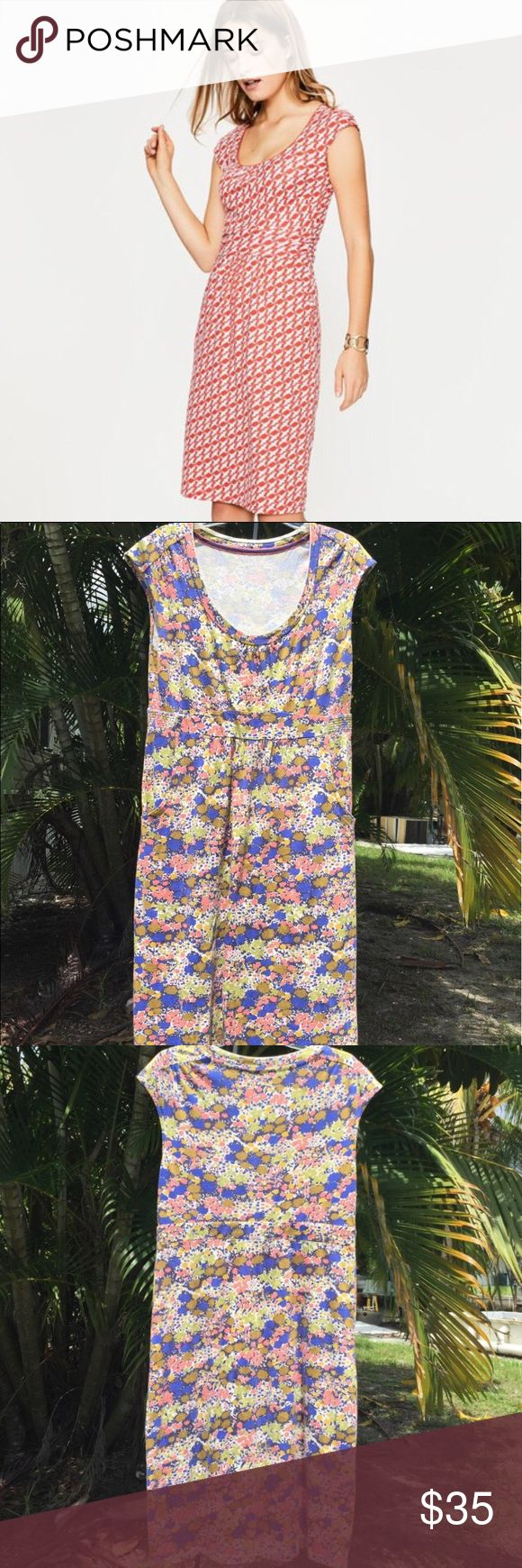 Boden abstract floral Margot jersey dress 14 NWOT Boden abstract floral Margot jersey dress 14 Boden Dresses Midi