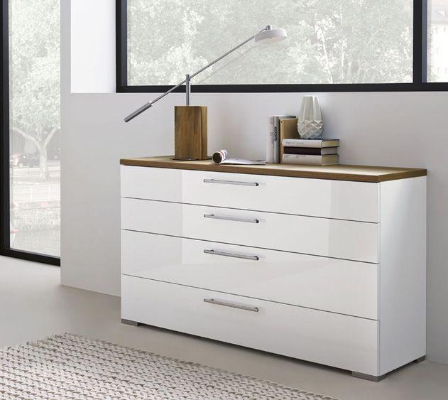 Kommode Zamaro In Eiche Volano Absatz Bianco Weiss Hochglanz Home Deco Home Decor Furniture