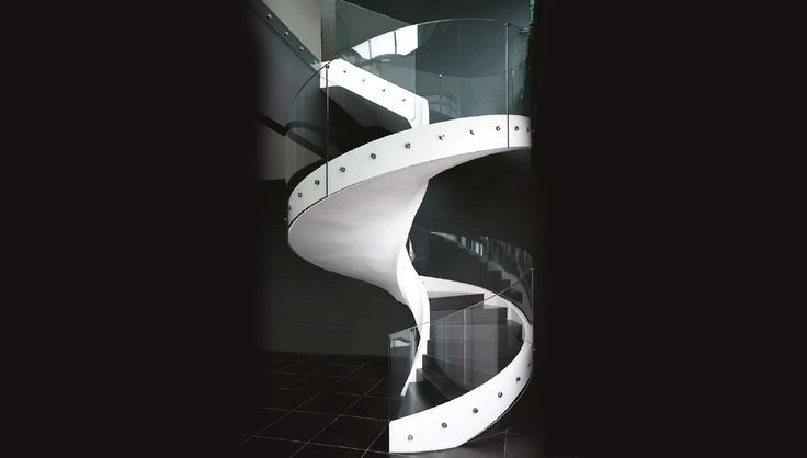 HelixCurved crystal, suspended framework, light and bold de- sign. Helix is a precious object,  a helical stair that is functional  and distinctive at the same  time. it's a crystallized vor- tex of rare beauty and abso- lute safety, bound to forever  change the aesthetic impact  of your home environment. 1.800.409.0211 or info@i4dps.com