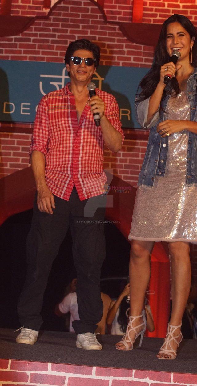 Tall Katrina Kaif With Short Shahrukh Khan By Tallgirlfan Shahrukh Khan Katrina Kaif Khan