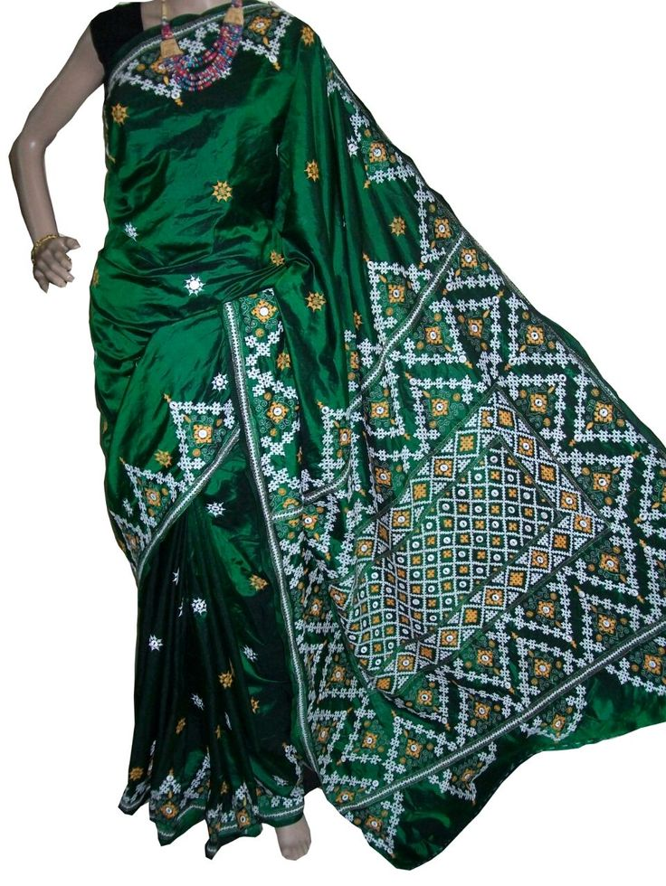 Craftsmen of India - Kantha embroidery, Kantha Sarees, Kantha Work sarees…