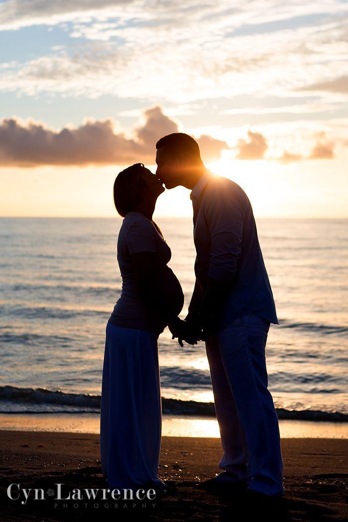 Cyn Lawrence Photography Boynton Beach, FL Maternity Pregnancy Beach Photos Hollywood Beach silhouette