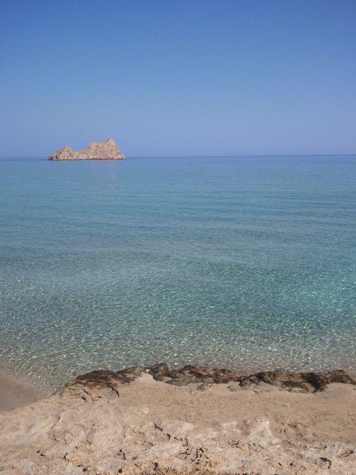 Southern beach in Crete