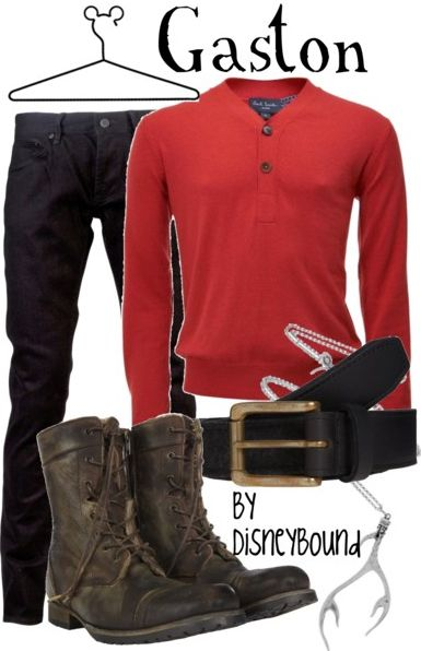 I've never liked Gaston, but this outfit is SUPER cute!