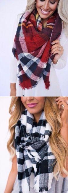 Стильные шарфики на холодную погоду. — Модно / Nemodno