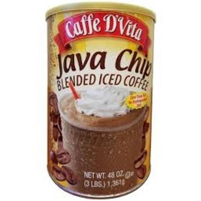Caffe D'vita Java Chip Latte Blended Iced Coffee Mix - Gluten Free! - 3 Lb. Cannister (48 Oz) *** Click image for more details. #InstantCoffee