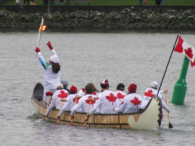 ATAC Sportswear Dragon Boat Jerseys with the Olympic Flame at the Winter Olympics in Vancouver 2010