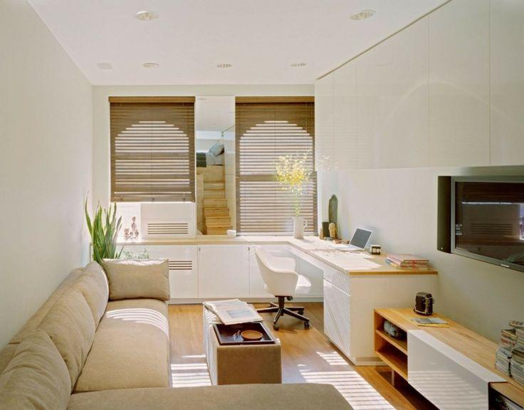 Wohnzimmer mit Heimbüro
