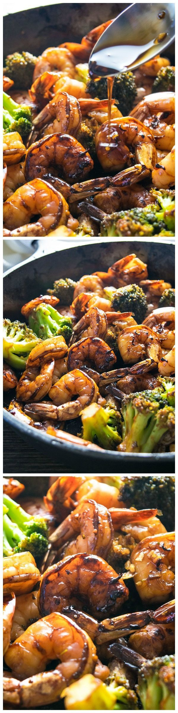 Browned honey garlic shrimp with tender broccoli | CookJino