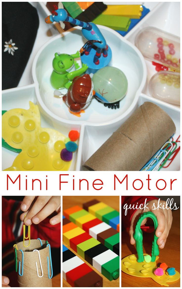 Mini Fine Motor Skills Activity Tray Quick and Easy Activities With Everyday Items Sometimes Liam has a hard time focusing on an activity for very long and his interest can dwindle quickly. He is actually in need of extra fine motor work for his age. Since, he doesn't naturally ...