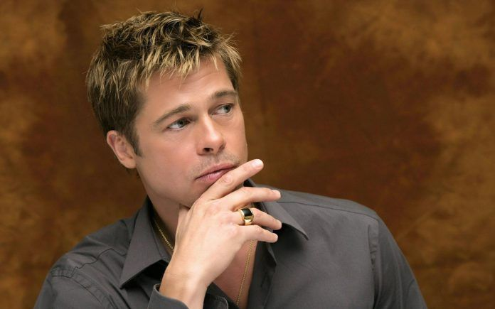 Brad Pitt Thinking Seriosly - HD Wallpapers - Free Wallpapers - Desktop Backgrounds