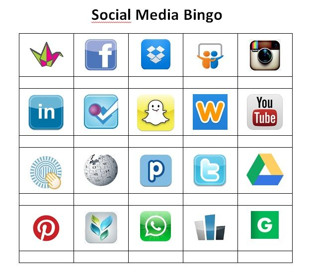 TOUCH this image: Social Media bingo by Elle Peters