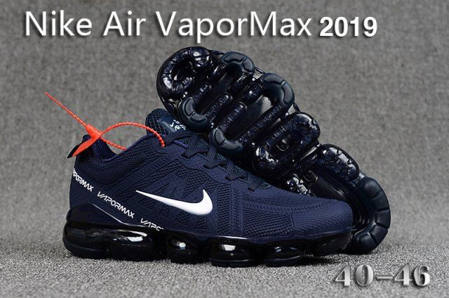 timeless design c8dae 5baba Mens Winter Nike Air VaporMax 2019 Sneakers Navy blue white black