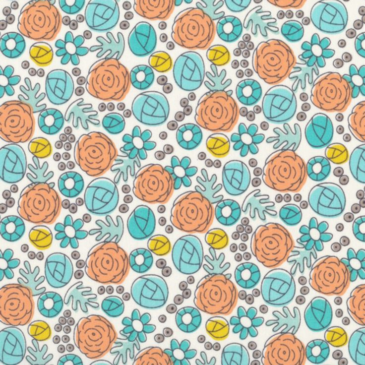 Grey Abbey Floral Whimsy Egg Blue