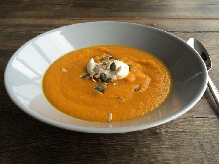 Supersnelle wortel-gember-soep