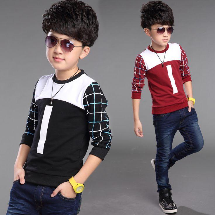 $23.00 (Buy here: https://alitems.com/g/1e8d114494ebda23ff8b16525dc3e8/?i=5&ulp=https%3A%2F%2Fwww.aliexpress.com%2Fitem%2FDongkuan-Cotton-long-sleeved-T-shirt-Kids-boys-Grid-T-Shirt-Enfant-Garcon-Long-Sleeve-Brand%2F32419293756.html ) Boy Autumn And Winter children letter t-shirts long sleeve cotton shirt children t-shirt kids clothes boys children 40# for just $23.00