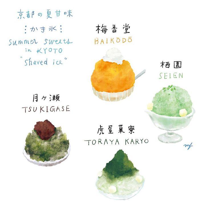 深夜に京都のかき氷を調べてます。。かき氷って本当にフォトジェニックよなぁ。 おなかすいてきた‥