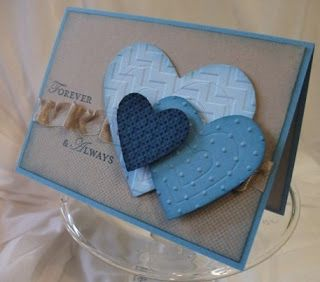 By Julia Leece. Hearts are die-cut and dry embossed.