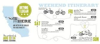 wedding weekend itinerary template i dos pinterest hadanie