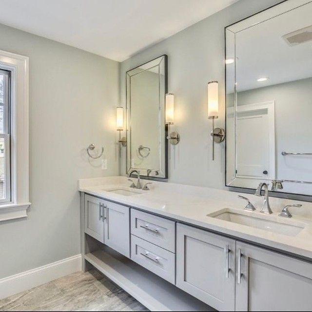 Astor Double Wide Fixed Mirror Bathroom Interior Design