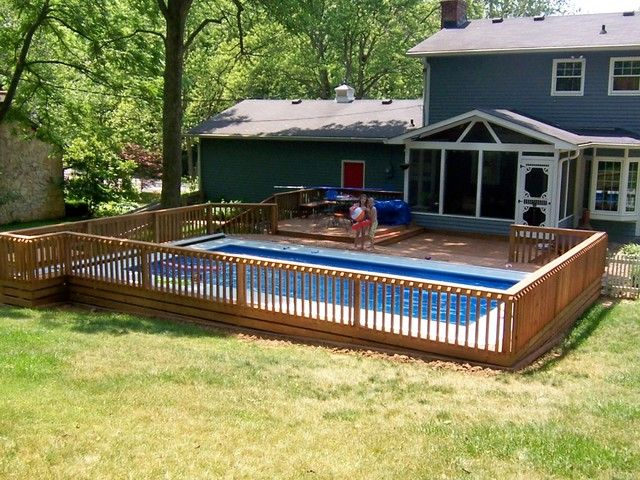 17 Best Ideas About Semi Inground Pools On Pinterest