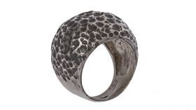 Ring Ughetto Rounded ring in precision cast silver.