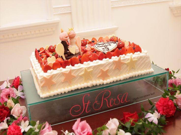 015 可愛いキャラクターを乗せたケーキです。
